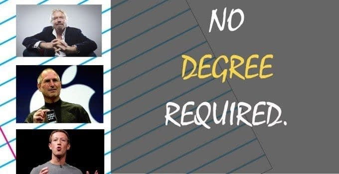 No Degree Required